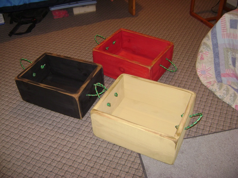 35P - Large Wooden Boxes