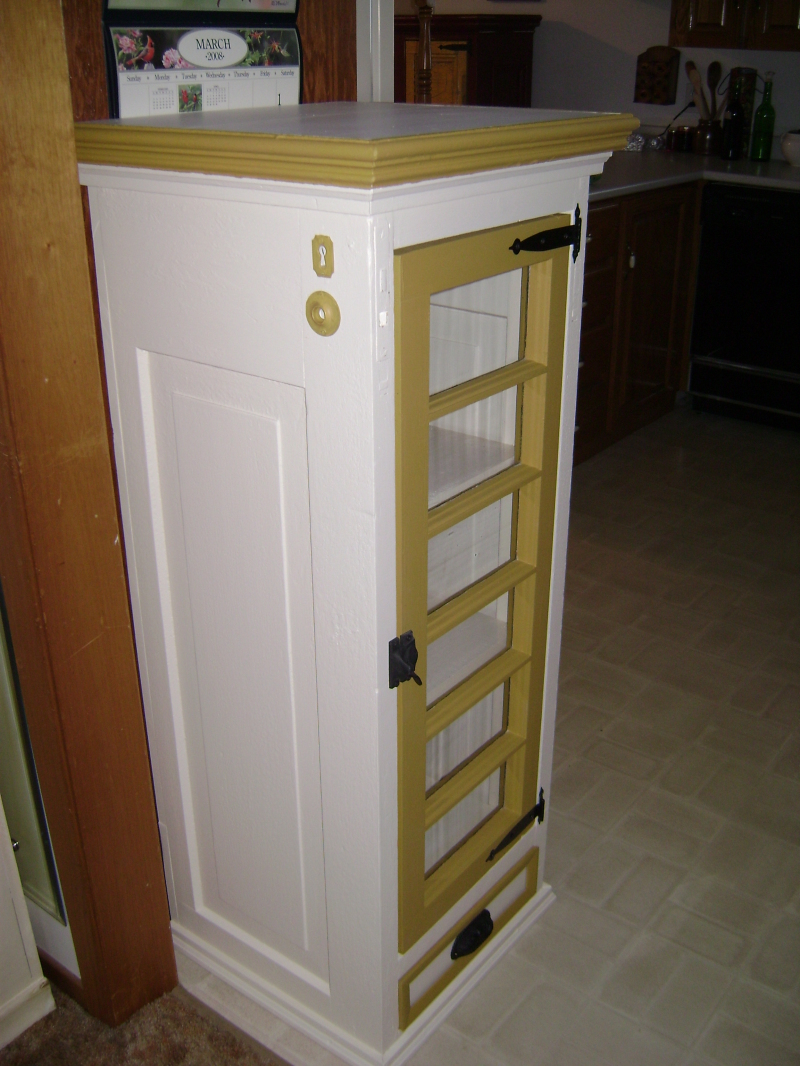 9P-Window Pane Cabinet