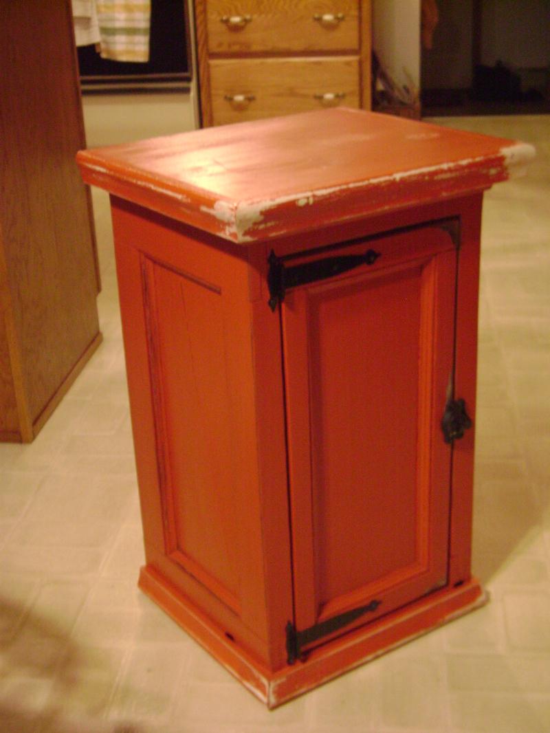10P-Red Door Panel Cabinet