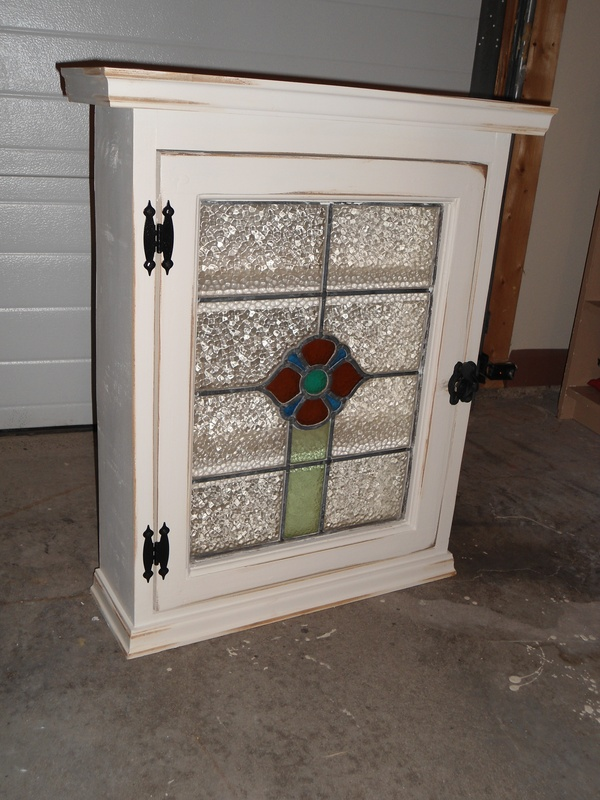 46P Stained Glass Cabinet